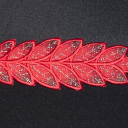 Bracelet feuille rouge, accessoire de mode femme, mariage