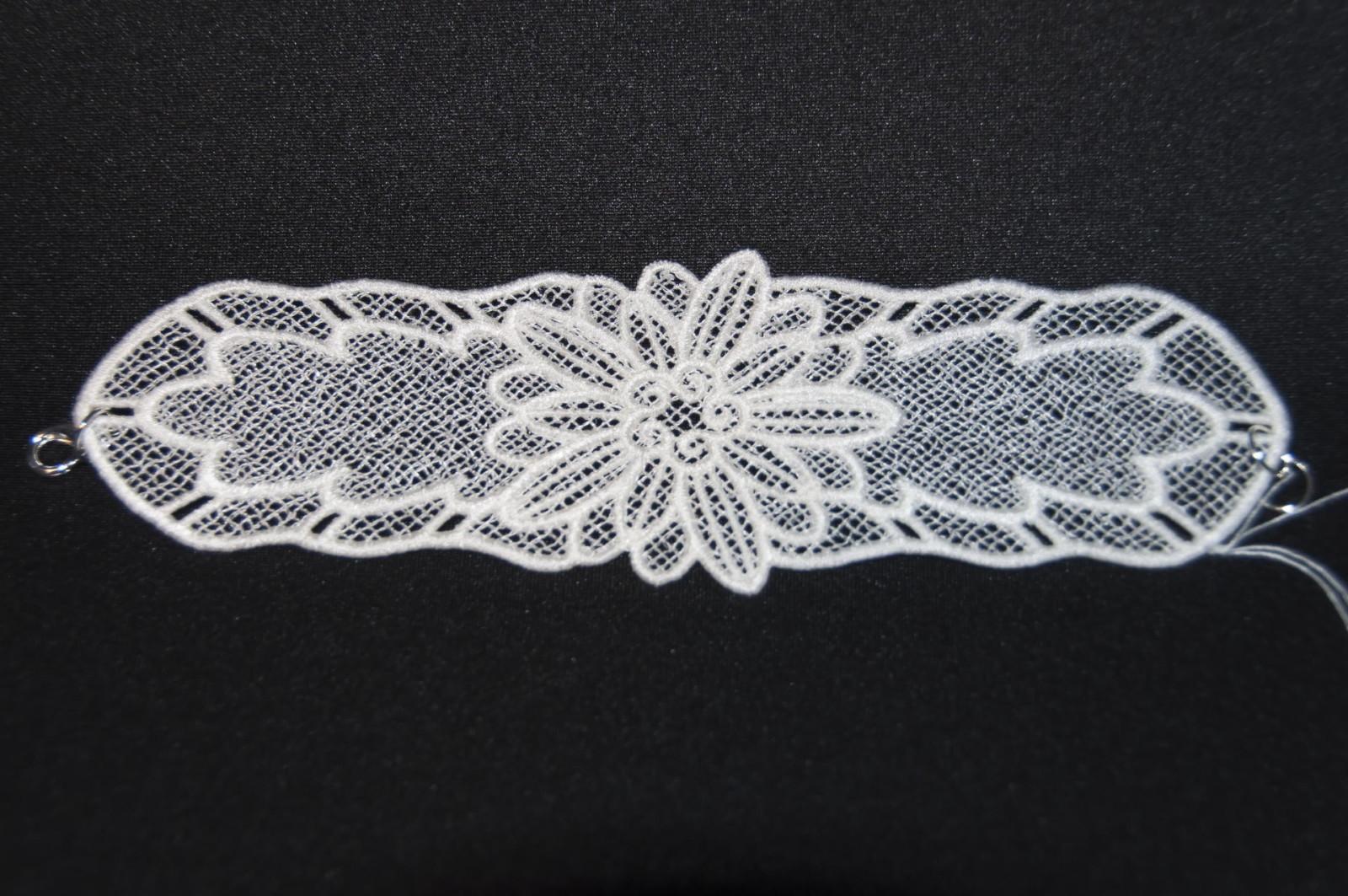 bracelet dentelle blanc, accessoire femme, mode, mariage