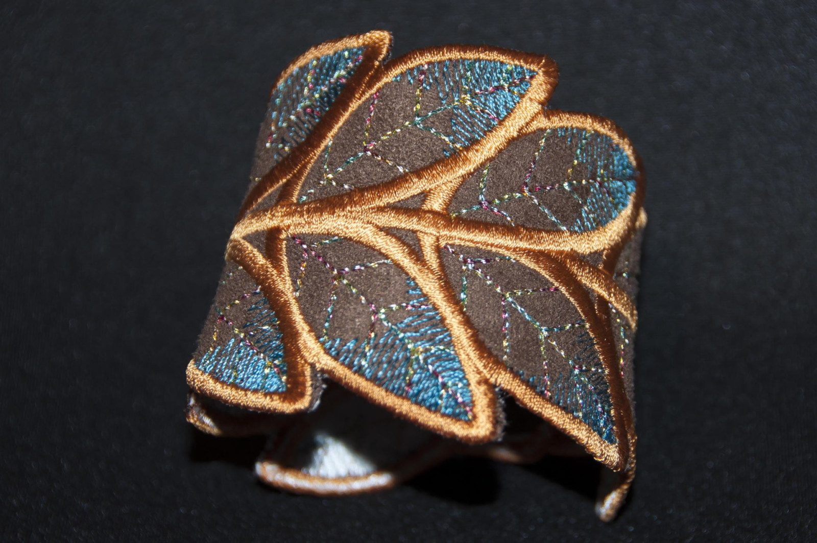 Bracelet Feuille bleu2, accessoire mode femme, mariage