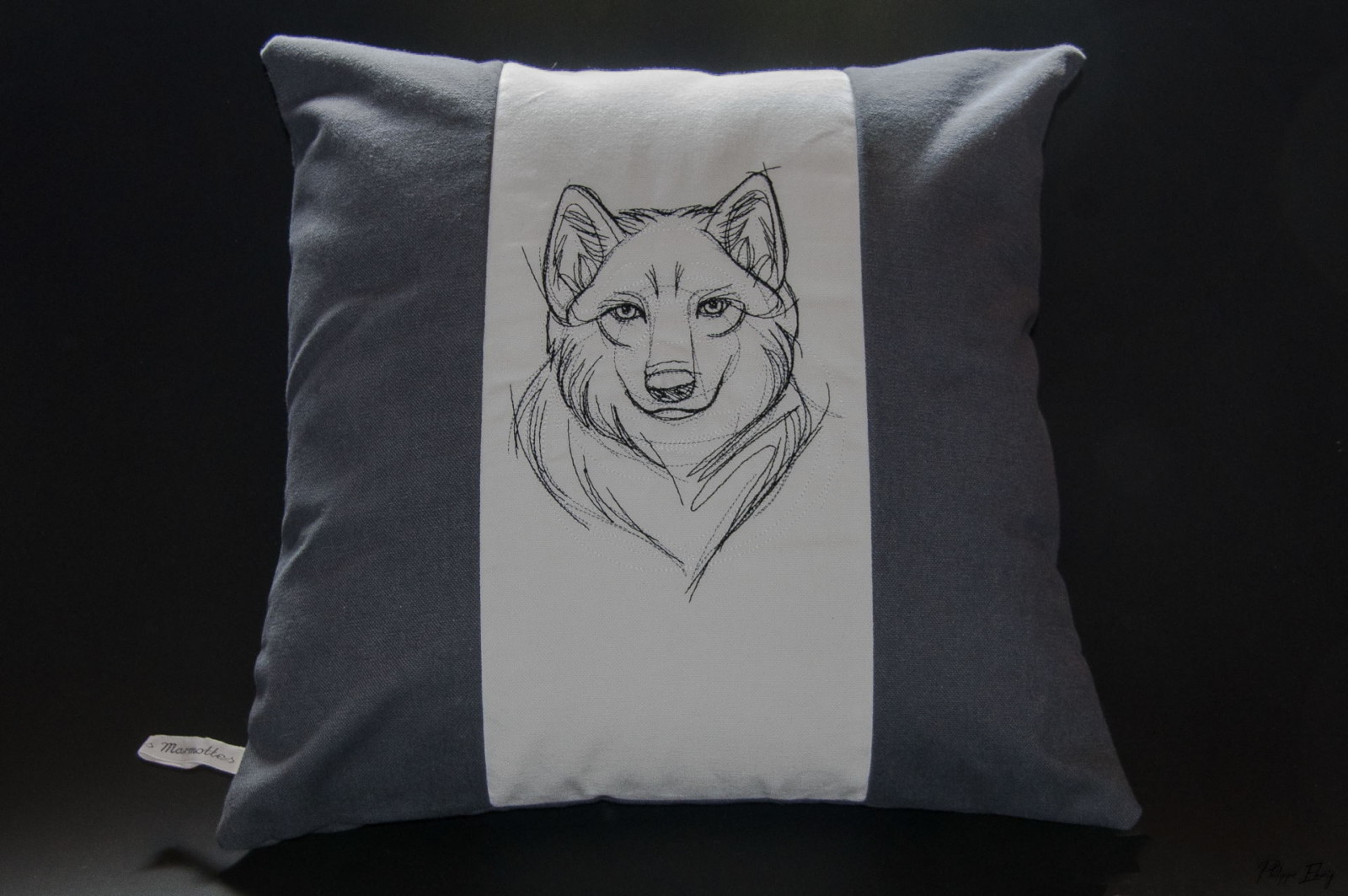 Housse de coussin 40×40 : Loup