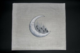 chemin de table lune, décoration intérieur, linge de table