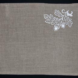 set de table feuille de chêne , art de la table, linge de table, décoration intérieur