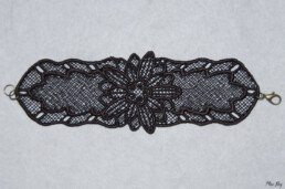 Bracelet en dentelle Chocolat, accessoire mode femme