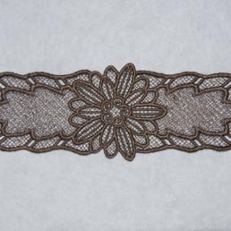 Bracelet en dentelle Marron clair, accessoire mode femme