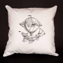 housse de coussin Voyage extraordinaire, décoration intérieur, linge de lit