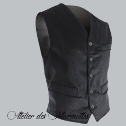 Gilet velours authentique savoyard