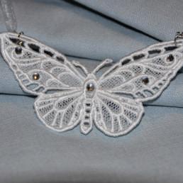 pendentif papillon, accessoire de mode femme, mariage et soirée
