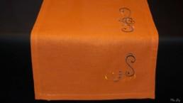 Chemin de table Mandarine, art de la table, linge de table