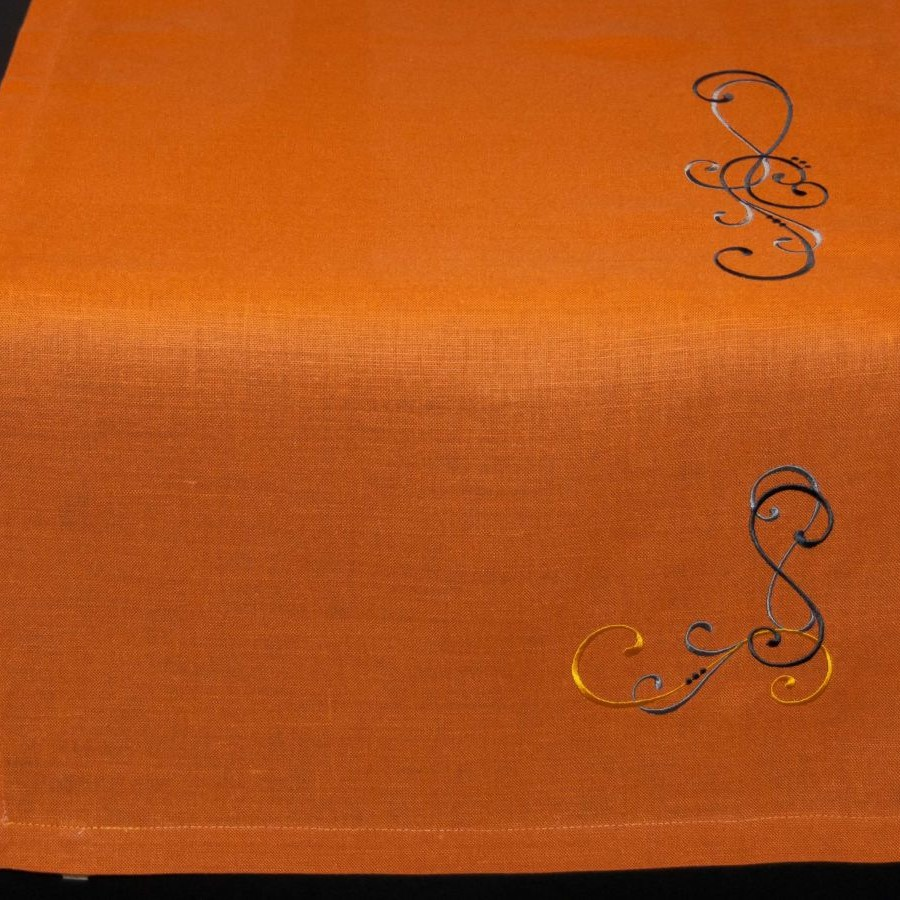 Chemin de table Mandarine, art de la table, linge de table