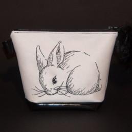 Pochette lapin, trousse de toilette, organiseur de sac, trousse maquillage