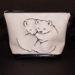 pochette Câlin des ours, trousse maquillage, trousse de toilette