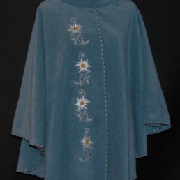 Cape édelweiss des glaciers, mode femme, vêtement chaud