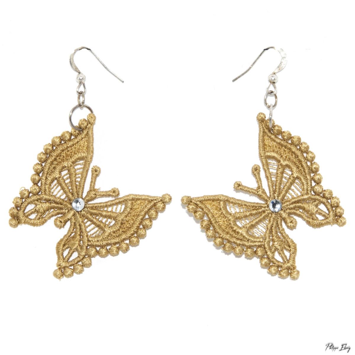"""Boucles d'oreilles """"Papillon"""", bijoux fantaisie"""