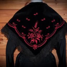 Châle blé rouge, châle traditionnel savoyard, châle Tarentaise