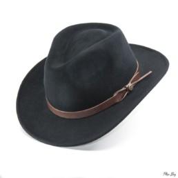 Chapeau feutre noir, costume savoyard homme