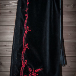 Tablier blé rouge, costume traditionnel